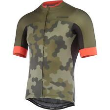 RoadRace Apex men's short sleeve jersey, dark olive / chilli red hex camo X-larg