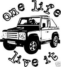 ONE LIFE LIVE IT sticker decal Landrover Defender 4x4