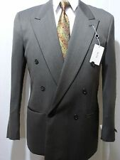Mani Double Breast Sport Coat, Gray/Black, 40L, NWT