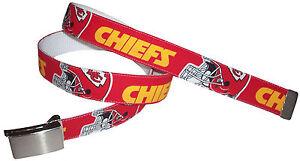 Kansas City Chiefs BELT Buckle Pro Football Fan Game Gear Team Apparel NFL Shop