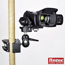 Hague Super Camera Clamp with Double Ball Tilt Head for DSLR & Camcorders (SC2)