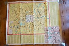 1955 Central Bus & Trolleybus Routes Original London Transport Poster