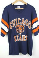 Chicago Bears Mens T Shirt Large Vintage 80s 90s Logo 7 Jersey Made in USA NFL