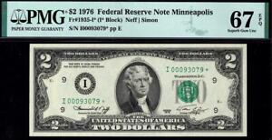 1976* $2 Minneapolis Federal Reserve STAR Note FRN • PMG 67 EPQ • 1935-I* Rare