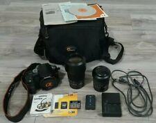 Sony Alpha DSLR A100 10.2MP Camera Bundle W/Lenses 18-70, 75-300 & Extras MINT