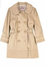 Juicy Couture Women's Princess Trench Coat Beige Double Breasted  Sz L