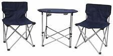 3 Piece Folding Table and Chairs Camping Set - Blue.