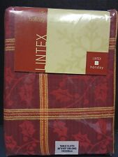 """Lintex Oblong 60"""" x 102"""" Tablecloth in Holly Square"""