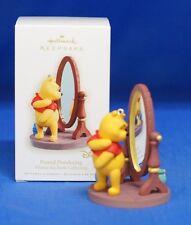 Winnie the Pooh Looking in Mirror Pound Pondering Disney Hallmark Ornament 2008