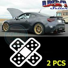 2PCS JDM Funny Cross Bandaid Car Racer Vinyl Decal Stickers - White