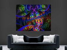 Póster Psicodélico Trippy pared gigante de imágenes fractales Art Print
