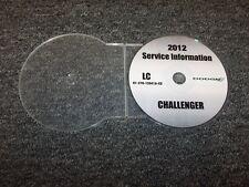 2012 Dodge Challenger Shop Service Repair Manual DVD SXT R/T SRT8 Rallye Redline
