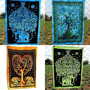 4 Pcs Mandala Tapestry Wall Hanging Throw bedding Cotton Poster Wholesale Lot
