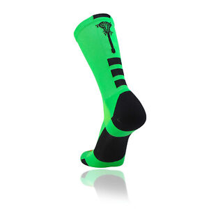TCK Midline Elite Lacrosse Crew Socks - 7 Colors - Lacrosse Stick Logo - proDri