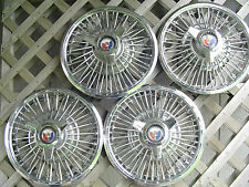 1965 65 FORD MUSTANG WIRE SPINNER HUBCAPS  WHEELCOVERS  CENTER CAPS ANTIQUE