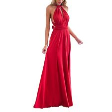 V Neck Bridesmaid Strappy Party Prom Ball Gown Womens Dress Sz 12 Red 8