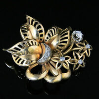 ANTIQUE VICTORIAN DIAMOND BROOCH 18CT GOLD BROOCH WEIGHS 16.5 GRAMS