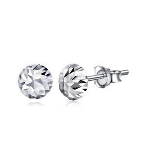 Solid Pt950 Platinum 950 Earrings Women Luck Mushroom Stud Earrings / 0.9g
