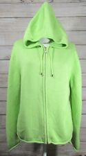 Hanna Andersson Hoodie Sweater Size MEDIUM Green 100% Cotton Full Zip EXCELLENT
