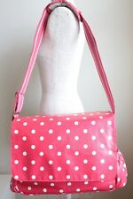 CATH KIDSTON BABY CHANGING BAG Red Spot Oilskin Shoulder Bag With Changing Mat