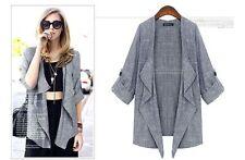 Unbranded Linen Machine Washable Coats, Jackets & Vests for Women