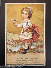 Franklin E. Hinman Franklin Bookstore Readers & School Books Antique Trade Card
