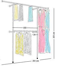 Profi Kleiderständer WANDREGAL Kleiderzimmer KLEIDERSTANGE Garderobenständer W01