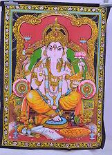 Ganesh Ganesha Bedspread Hindu Large Throw Wall Hanging Tapestry Ethnic Decor