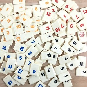 RUMMIKUB Spare Replacement Number Tile Logo/Motif On Back - Buy 2+ No Extra Post