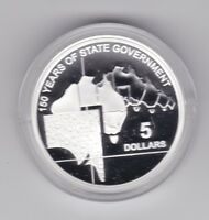 2007 $5 Silver Proof Coin 150 Years of State Government  South Australia