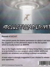 Alien ABDUCTION PERMIT drivers license - for fans of UFO X-Files fun fake id car