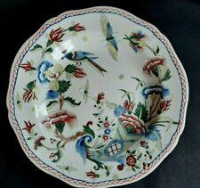 Ancienne Assiette Faïence Gien décor Corne d'Abondance Oiseaux Papillons Fleurs