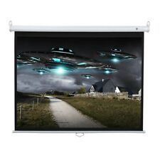 Homegear 60in 4:3 Manual Pull Down Tripod Projector Screen Matt White