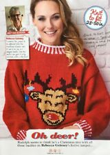 Knitting Pattern for Ladies Christmas Jumper. To Fit 28-50 Inch Bust