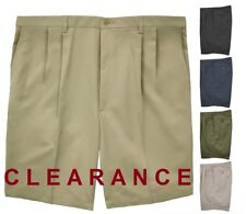 CLEARANCE Big & Tall Men's PLEATED Casual Shorts by Haggar #661