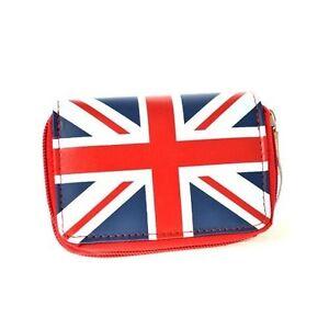 Union Jack Flag Wallet Red White and Blue British English Purse Money Bag C345