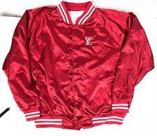 Louis Vuitton Bootleg Varsity Satin Jacket Red XL LV Gucci