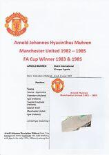ARNOLD MUHREN MANCHESTER UNITED 1982-1985 ORIGINAL HAND SIGNED CUTTING/CARD