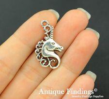 12pcs Seahorse Charm Antique Silver Charm Necklace Pendant SC633