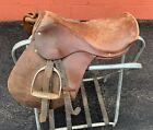 """14"""" Vintage English Saddle"""