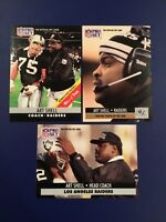 1990-1991 Pro Set # 4-161-198 ART SHELL Lot 3 Los Angeles Raiders Coach