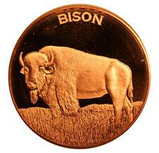 1 oz Copper Round - Bison