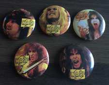 WASP Set of 5 BUTTON BADGE American Heavy Metal Band - Wild Child 25mm Pin