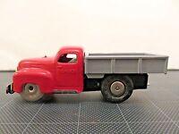 Vintage Schuco Varianto-Lasto Windup Truck 3042 US Zone Germany Toy Car Red/Grey