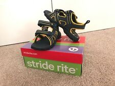 NIB BOYS STRIDE RITE M2P SHARKIE LEATHER MESH 13M NAVY SANDALS WATER SHOES
