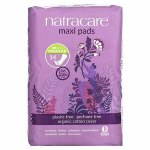 Natracare Maxi Pads Regular Organic Cotton 14 Period Pads Multi Buy Savings