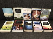 Nicholas Sparks Libro Lote de 10 portátil Suerte Amor Boda Romance Suspenso