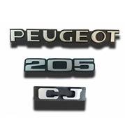 kit de 3 Monogrammes : PEUGEOT +  205  + CJ