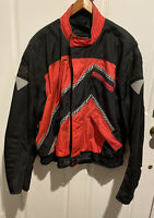 Hein Gericke Classic Motorcycle Jacket Padded  Cybersport Size XL Red/black