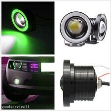 2 X Green LED Angel Eye Rings Car SUV Projector Light Fog Daytime Running Lamps